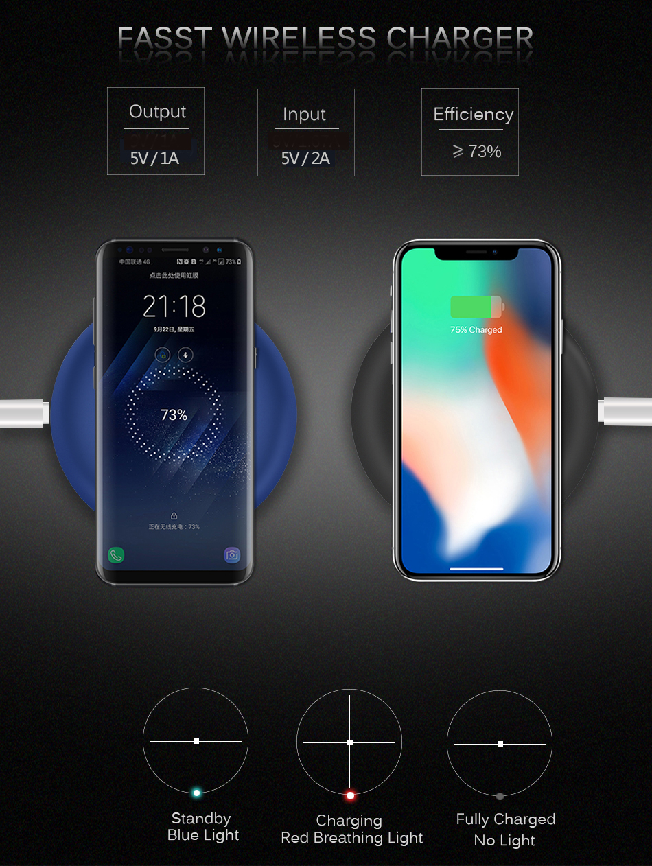wireless charger iphone 7.5w 4