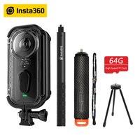 Insta360 One X Экшн камера VR 360 панорамная камера для iPhone x xs Android 5,7 K видео 18MP невидимая селфи палка Insta 360