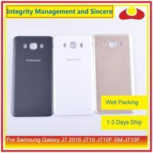 50 adet/grup Samsung Galaxy J7 2016 J710 SM J710F J710M J710H J710FN batarya muhafazası kapı arka arka kapak kılıf şasi kabuğu