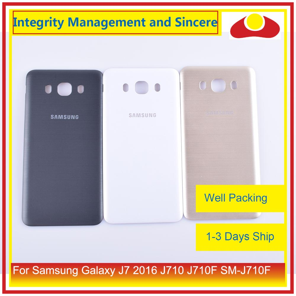 Original For Samsung Galaxy J7 2016 J710 SM J710F J710M J710H J710FN Housing Battery Door Rear Back Cover Case Chassis Shell-in Mobile Phone Housings & Frames from Cellphones & Telecommunications