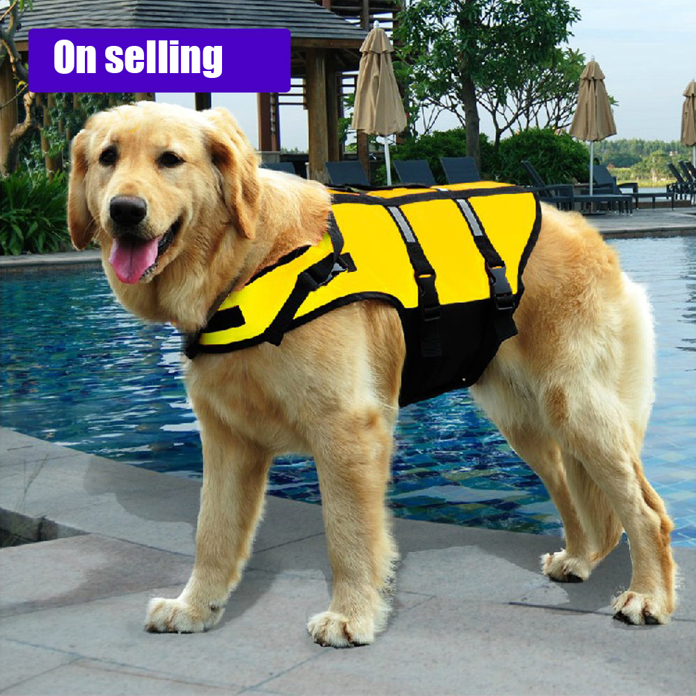 PetSafe Fido Float Dog Refective Vest for Safety Pet Clothes Yellow Life Jacket for Summ ...