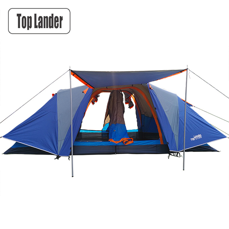 Automatic Camping Tent 4-6 Person Double Layer Tents Camping Family Full Cover Fly Roof Tents Ultralight Tourist Quick Opening large camping tent 4 5 person gazebo double layer waterproof tourist tent outdoor awning tents camping family picnic party tents