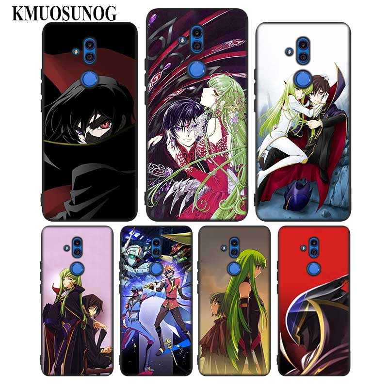 For Huawei Honor Mate 7C 7A 8 8X 9 9N 10 20 Nova 3 3e 3i Pro Lite Black Silicon Phone Case Code Geass Anime Style in Fitted Cases from Cellphones Telecommunications