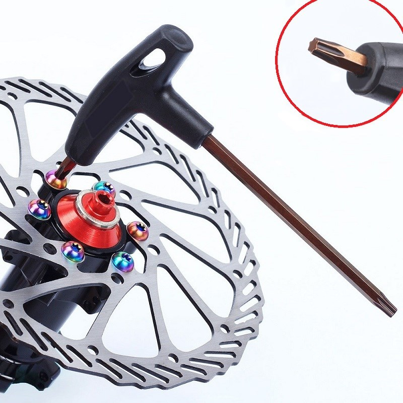 Professional T25 Plum Wrench Portable Spanner Screw Fastener For MTB Bike Brake Disc Rotor Bolts Cycling Bicycle Repair Tool