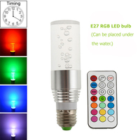 2018 חדש 85-265 V מנורת הנורה RGB RGB LED הנורה E27 3 W מנורת LED הוביל אור זרקור ספוט אור 16 צבע שינוי ניתן לעמעום Lampada