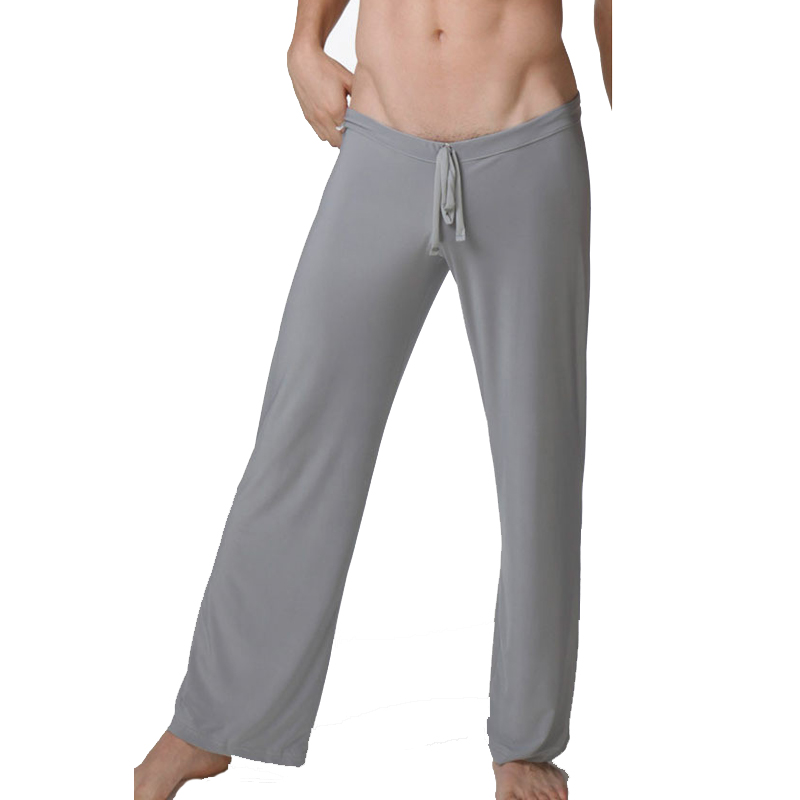 2017 New Men Sleep Pants Smooth Loose Man Pants Casual Pajama Trousers Cool Breathable Sleep Bottoms Men, WA280