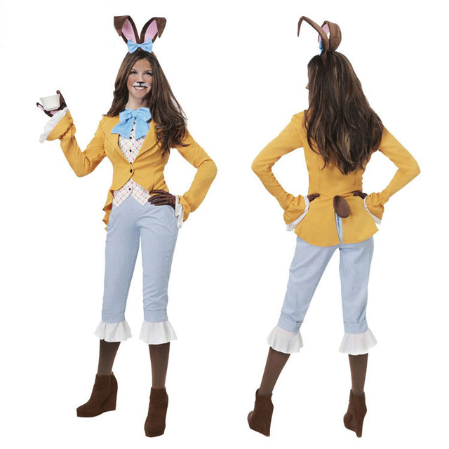 High Quality IREK Hot Halloween Costume Live Adult Female Animal Pretty Bunny Rabbit  Girl Party Cosplay Costume Stage Performances Clothing