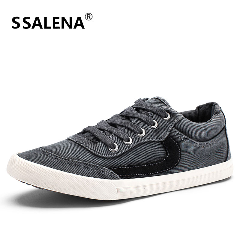 Hommes toile vulcanisée chaussures mâle à lacets chaussures plates pour Cool garçons hommes bas Top respirant base classique chaussures AA51690