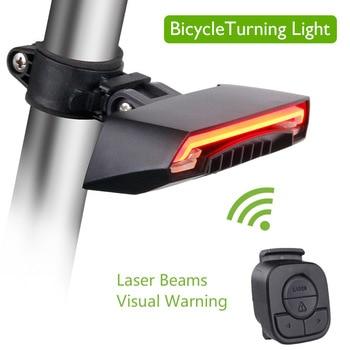 LEDชาร์จUSBจักรยานเสือภูเขาไฟท้ายไฟท้ายMTBเตือนความปลอดภัยจักรยานไฟท้ายจักรยานโคมไฟ