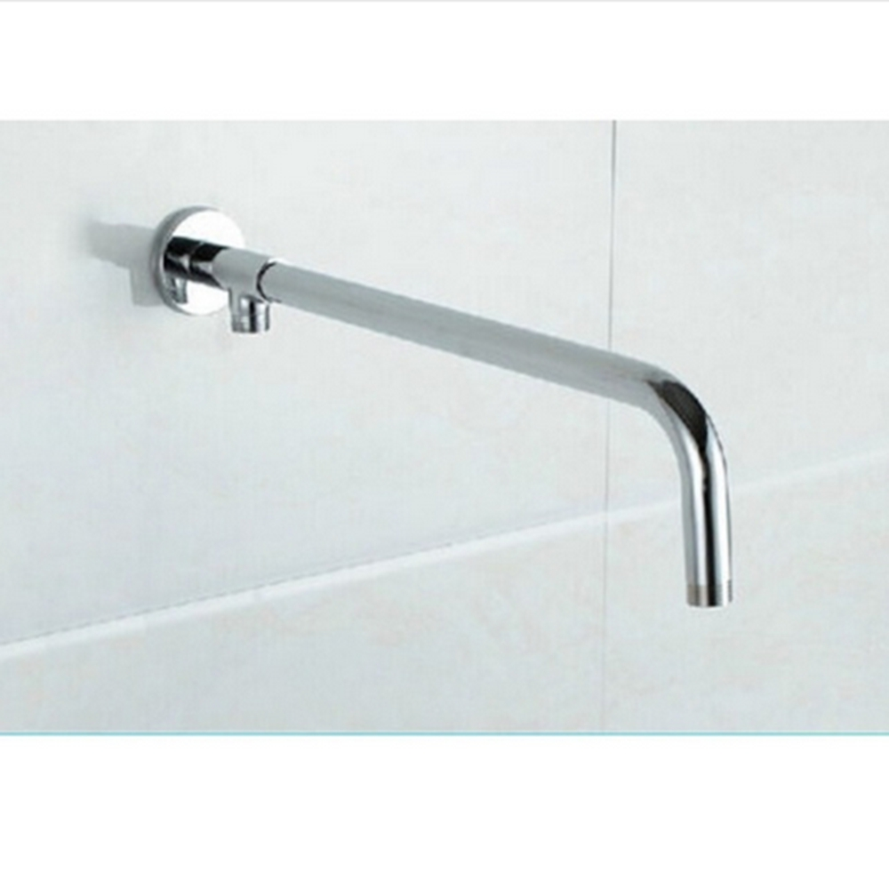 Free Shipping Chrome Polish Wall Mounted Round Style Bathroom Shower Arm Shower Replacement Bar