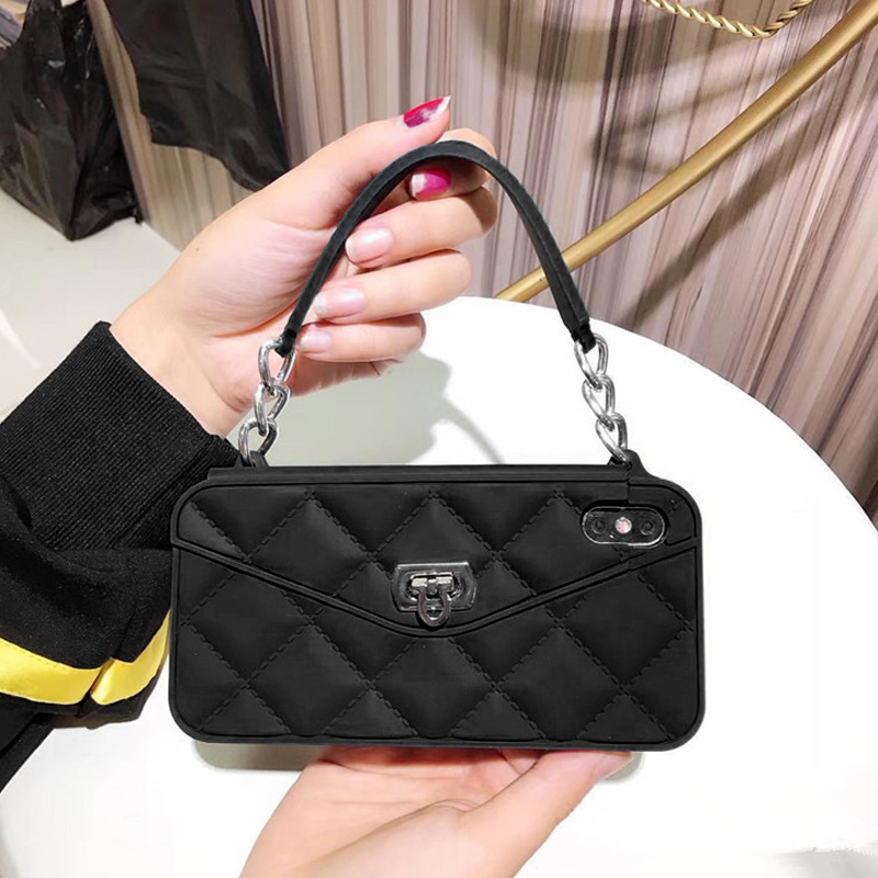 Luxury Stylish Handheld Mini Mobile Phone Bag Wallet Card Handbag Purse For IPhone XS Max/XR/X/8/7/6/6S/Plus Mobile Phone Bag