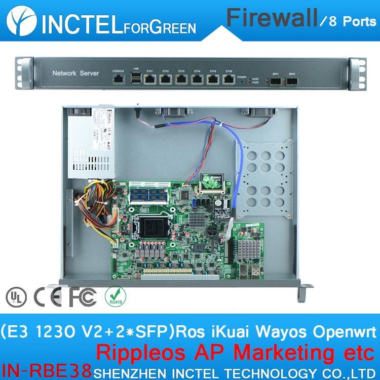 все цены на E3 1230 V2 CPU 1000M 6 82574L 2 82580DB fiber PFSense Firewall 1u Router Firewall Chassis онлайн