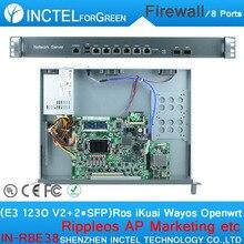E3 1230 V2 ПРОЦЕССОРА 1000 М 6 82574L 2 82580DB волокна PFSense Firewall Маршрутизатор Брандмауэра 1u Шасси