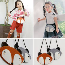 Cute Fox Animals Bag Baby Children Kids Boys Girls Cartoon Messengers Shouder Bags Handbag Plush Backpacks(China)