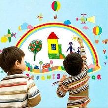 Autocollant mural Alphabet arc-en-ciel avion, tableau blanc, autocollant mural, étiquette d'art pour enfants