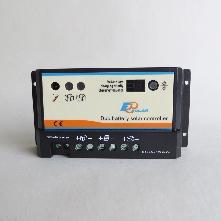 ФОТО 10A 12V 24V EP EPIPDB-COM Epsolar Dual Duo Two Battery Solar Charge Controller Regulators