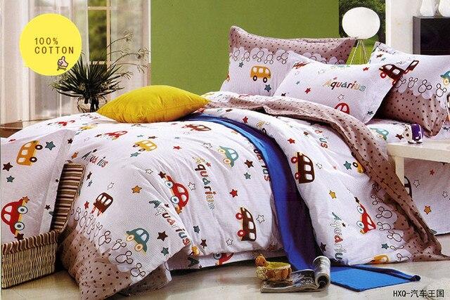 Baby Bedding Set Cars Queen Size Cartoon Kids Duvet Covers Bed