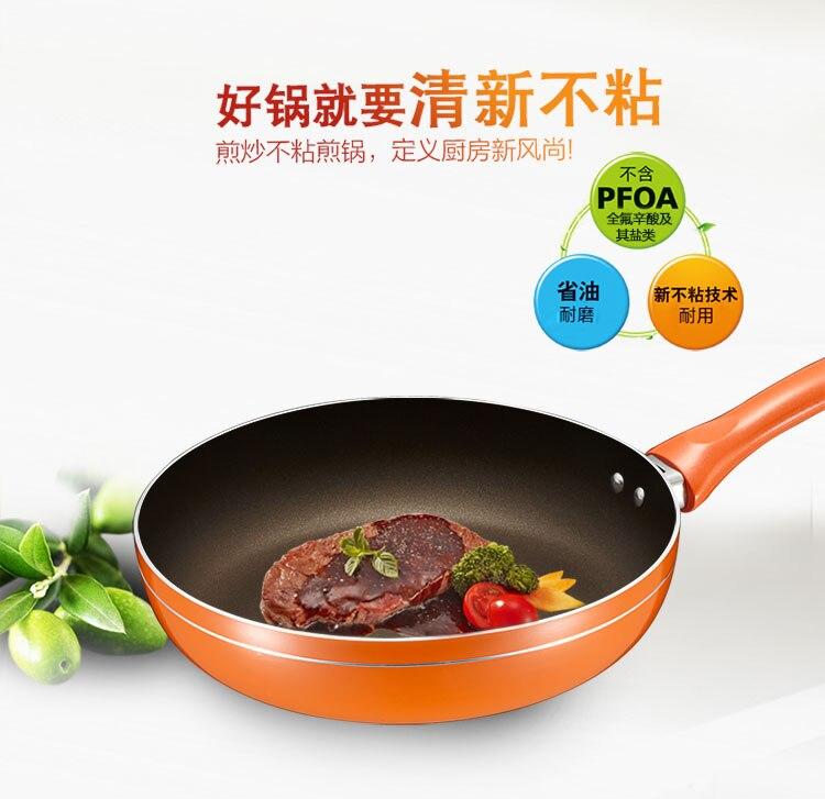 Casserole antiadhésive en alliage d'aluminium coloré américain de bonne qualité sans fumée Omelette frite Steak cuisinière à Induction gaz universel