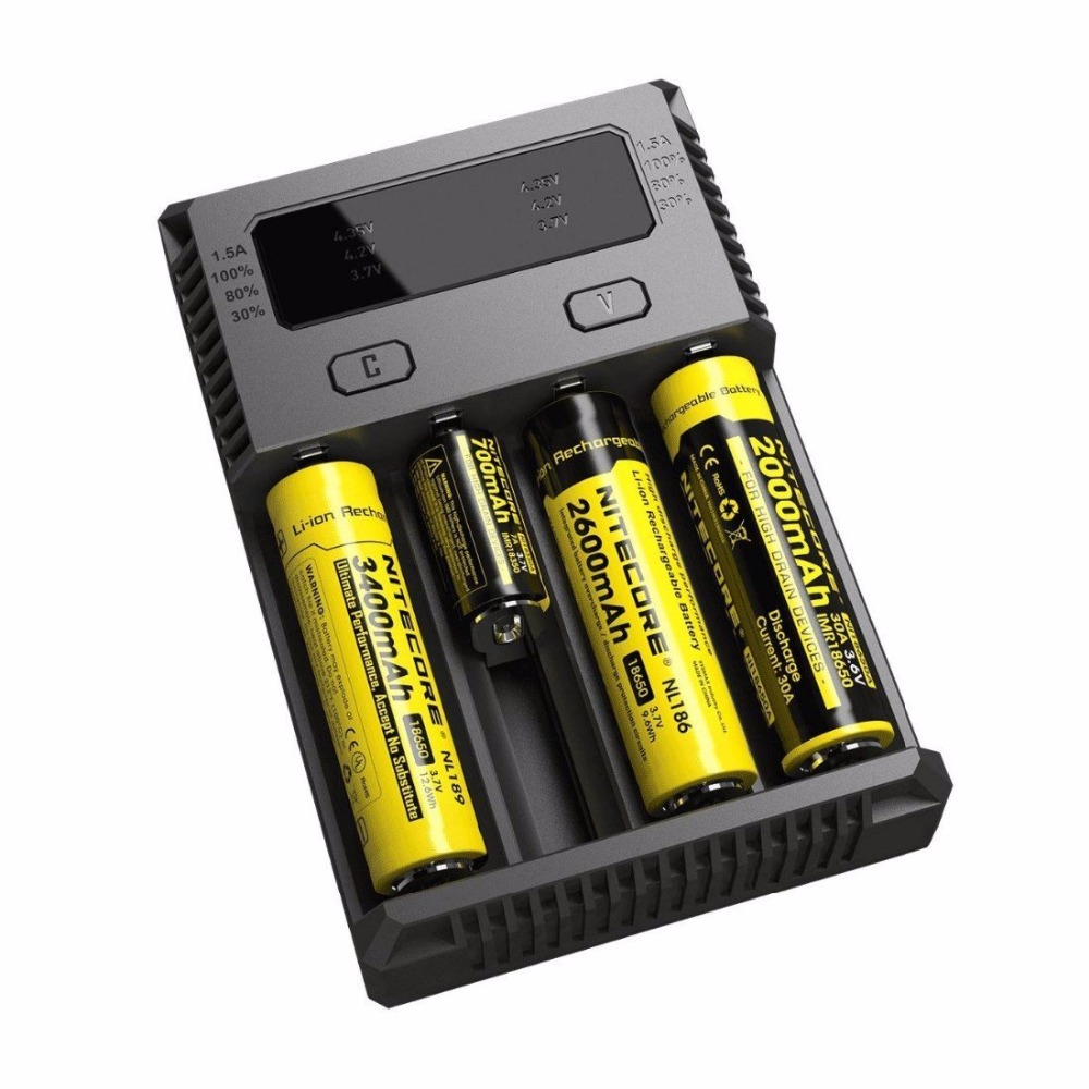 Back To Search Resultsconsumer Electronics Car Online Discount Original Nitecore I4 Battery Charger 18650 14500 16340 26650 Lcd Li-ion Charger 12v Input Charing For A Aa Aaa Batteries
