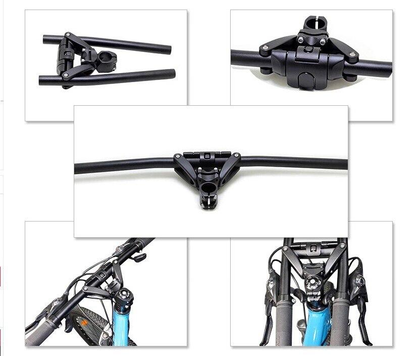 Original Ergotec folding handlebar mountain bike folding handlebar travel bending handlebar цены онлайн