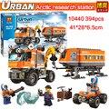 NUEVA estación de investigación policial conjunto Urbano Ártico Polo Norte puesto avanzado modelo de bloques de construcción de juguetes reunidos compatible Lepin 60035
