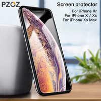 PZOZ verre trempé pour iphone X XS Max XR 8 7 6 6 s Plus couverture complète protecteur d'écran film téléphone protecteur incurvé 9 H 5D verre