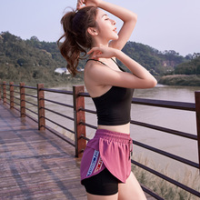 Double Layers 2 In 1 Women Sports Gym Shorts For Summer Practise Sportwear Active Yoga Fitness Workout Clothes