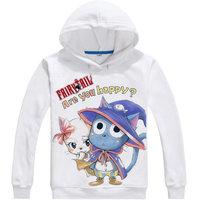 Fairy Tail Hoodie Anime Cat Happy and Lucy Cosplay O nack Sweatshirt Cute Sweatshirts Japanese Cartoon Fans