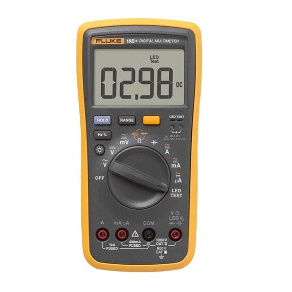 Multimeter  Voltage   18B Tester Original  17B Diode 15B Range 12E C R DC Auto Digital AC Fluke Current Plus DMM