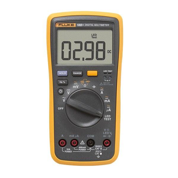 Original Fluke 15B +/17B +/18B +/12E + Plus + Auto Digital rango multímetro DMM AC/DC/diodo/R/C/probador de voltaje de corriente - 2