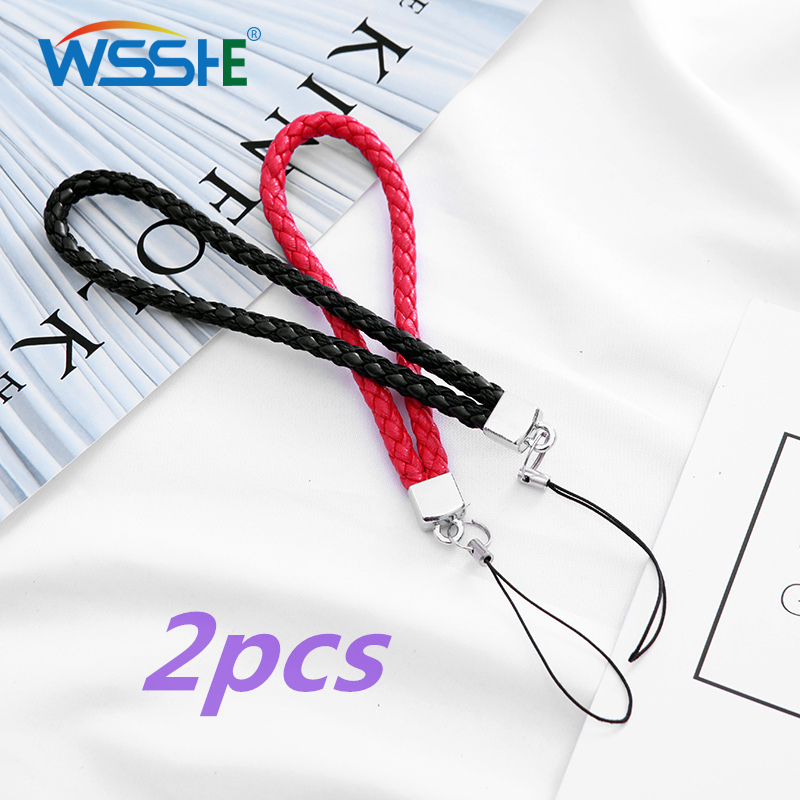 2pcs Mobile Phone Accessories Wrist Strap Hand Lanyard For Samsung IPhone GoPro Lanyard Wristband Phone Hand Strap For Key