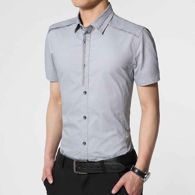 buy mens dress casual shirt slim fit