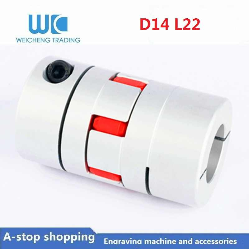 D14 L22 1 unidad de diámetro interior 4/5/6/6. 35/7/8mm acoplamiento ciruela tipo de estrella alto par tornillo máquina de grabado servo acoplador de motor