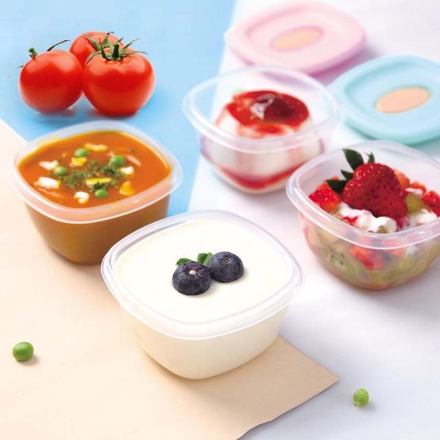 4Pcs Portable Baby Milk Powder Box Kids Baby Food Storage Container Breast Milk/Fruit/Juice/Snack Storage Cup Set 4oz/pcs
