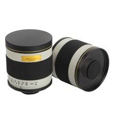 500 มิลลิเมตร F/6.3 กล้องเลนส์กระจกเงา Telephoto + T2 Mount Adapter สำหรับ Canon Nikon Pentax Olympus sony A6500 A7RII GH5 DSLR