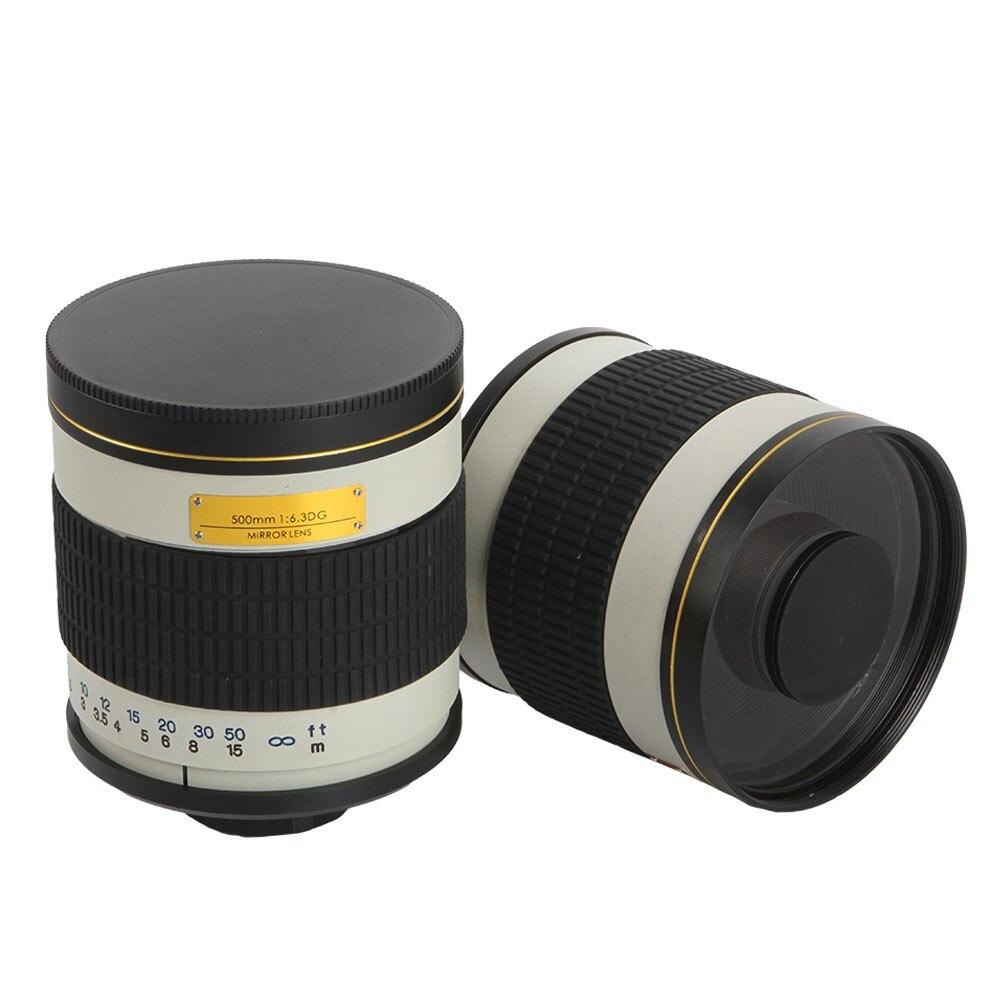 500mm F/6.3 Manuale Della Macchina Fotografica con Teleobiettivo Lente A Specchio + T2 Anello Adattatore di Montaggio per Canon Nikon Pentax Olympus sony A6500 A7RII GH5 DSLR