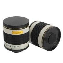 500mm F/6.3 ręczny aparat teleobiektyw lustro obiektyw + T2 adapter do montażu pierścień do canona Nikon Pentax Olympus Sony A6500 A7RII GH5 DSLR