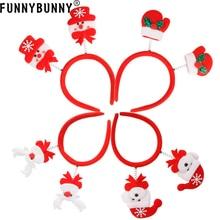 FUNNYBUNNY Christmas Hair Band Headband Accessories Santa Reindeer Snowman Xmas