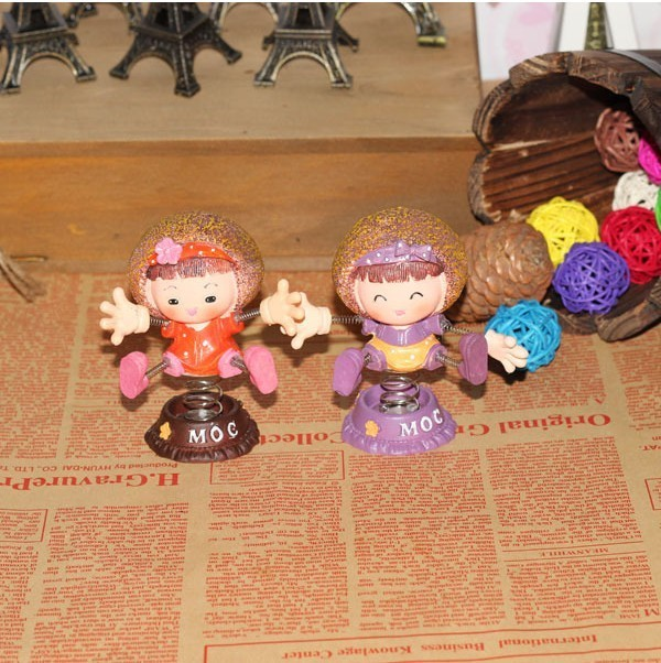 Free Shipping 8725 spring saw doll resin craft car decoration cartoon doll