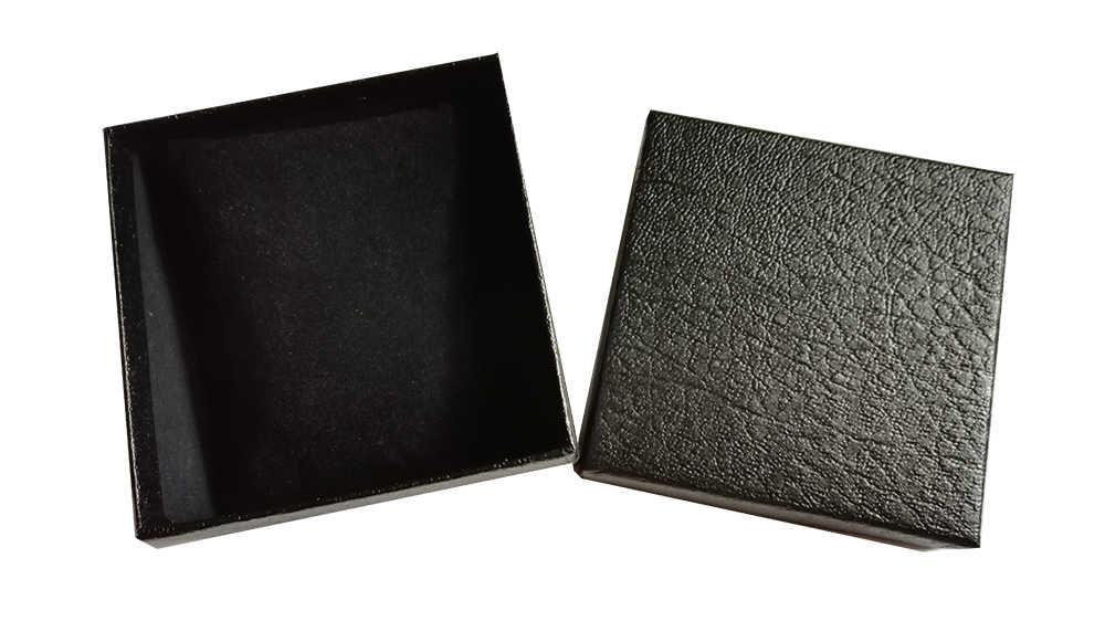 18 pcs/lot en gros pas cher Lichee motif noir papier montre boîte avec coussin bijoux montre/bracelet/bracelet boîte Logo personnalisé événement