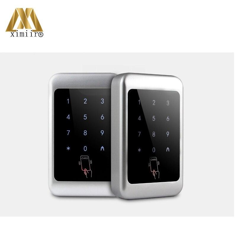 Controlador de acceso único 12V DC impermeable independiente 13,56 MHz MF lector de tarjetas M07 C Control de acceso