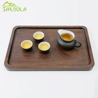 1PC High Quality Japanese Solid Wood Series Tea Tray Black Walnut Fruit Plate Kung Fu Tea