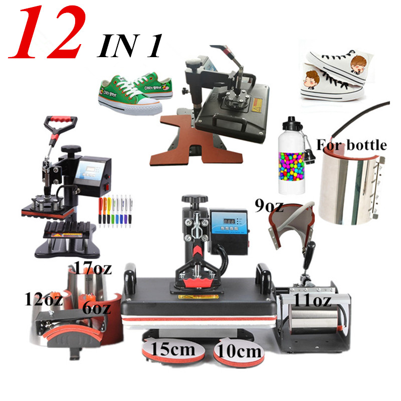 12 In 1 Combo Heat Press Machine,Sublimation/Heat Press,Heat Transfer Machine For Mug/Cap/Tshirt/Phone cases/pen/shoe12 In 1 Combo Heat Press Machine,Sublimation/Heat Press,Heat Transfer Machine For Mug/Cap/Tshirt/Phone cases/pen/shoe