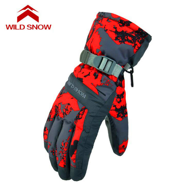 Winter Warm Full Finger Outdoor Sports Riding Unisex Gloves Windproof Motorcycle Cycling Running Anti-Skidding Skiing Gloves