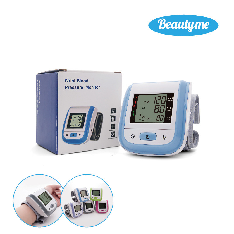New Pattern Electronics Wrist Blood Pressure Monitor Sphygmomanometer Fully Household home care laser light therapy instrument wrist watch type reduce high blood pressure