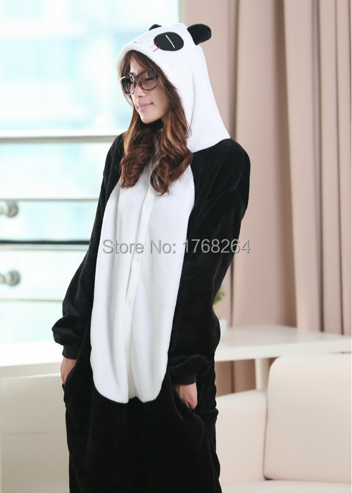 Cosplay satu keping flanel baju tidur panda haiwan Ms.female musim - Kostum karnival