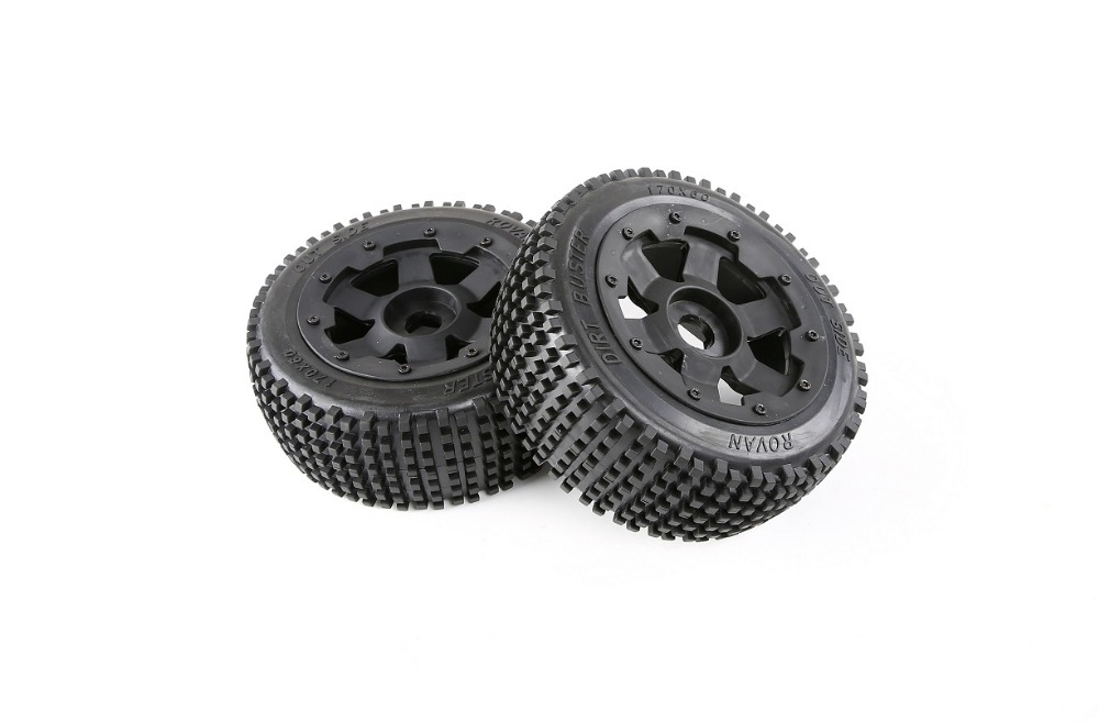 Front wheel small nail tire assembly for 1 5 hpi rovan km baja 5b rc car