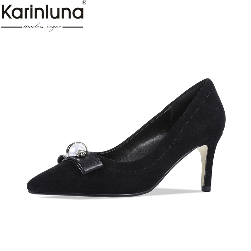 KarinLuna Sexy Thin High Heels 2019 Brand New Chic Style Mature Office Lady womens Stiletto Pointed Toe Classics womens ShoesKarinLuna Sexy Thin High Heels 2019 Brand New Chic Style Mature Office Lady womens Stiletto Pointed Toe Classics womens Shoes