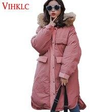 61c28facc Algodón Parka mujer invierno 2018 nuevo gran abrigo estudiantes coreanos  sueltan ropa de algodón gruesa liquidación