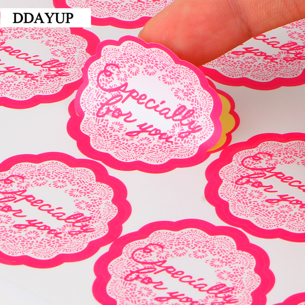 120pcs/10sheet Especially for you Sticker Vintage Stickers For Diy Hand Made For Gift Cake Sealing Hang Tag candy color lace label 80pcs lot 4 5cm vintage stickers kraft sticker diy hand made for gift cake baking sealing hang tag